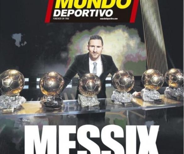 Messi 6e Ballon d'Or: Mundo Deportivo