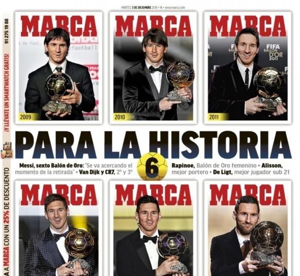 Messi 6e Ballon d'Or: Marca