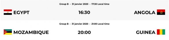 CAN 2020 Futsal 2e journée - groupe B