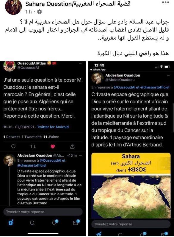 Tweet Ouaddou sur le Sahara