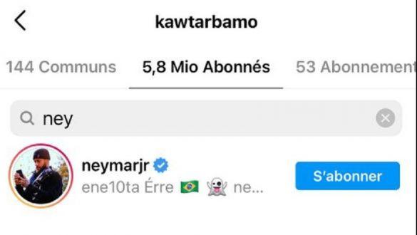 Neymar suit Kawtar Bamo